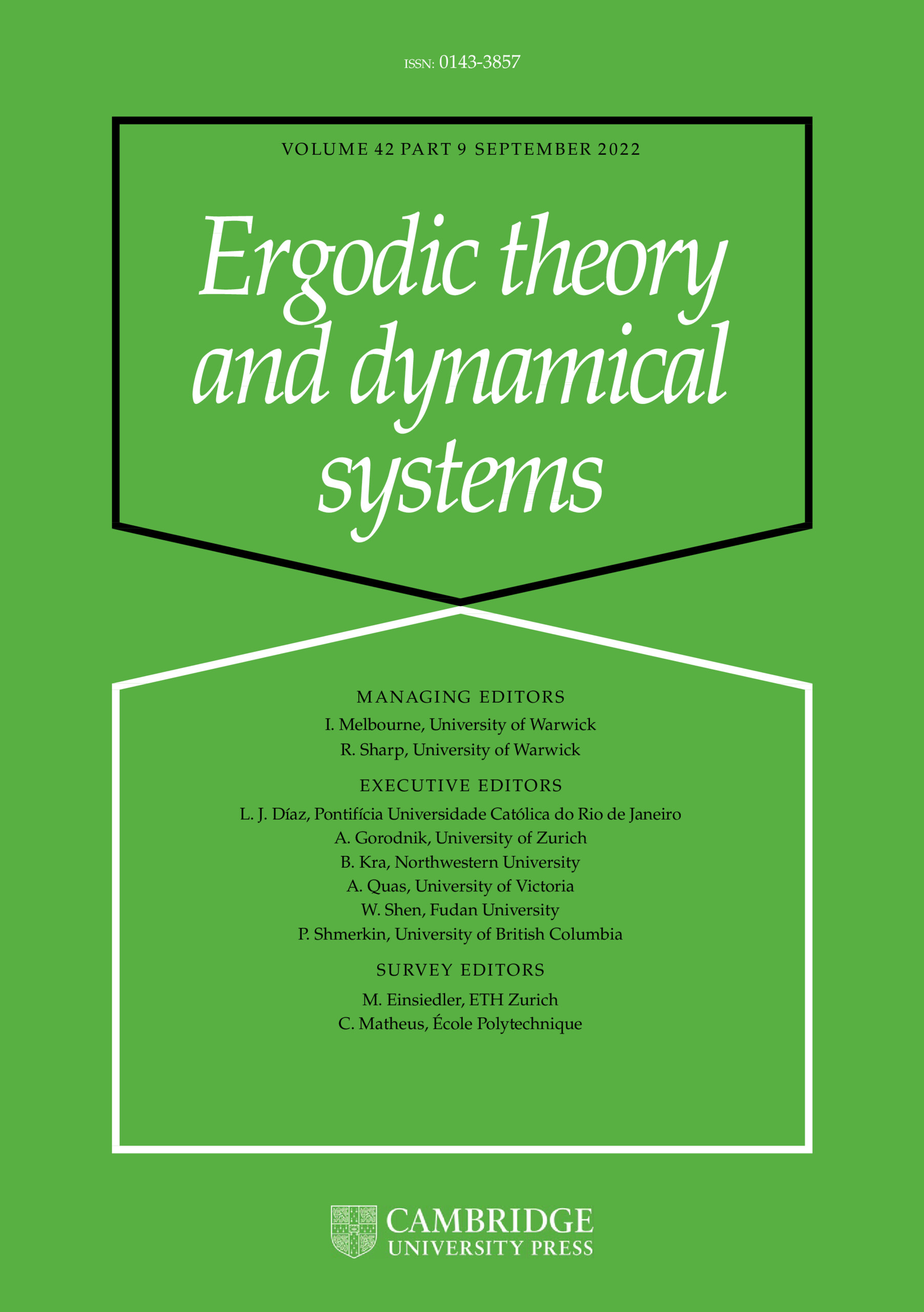 Ergodic Theory and Dynamical Systems | Cambridge Core