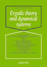Ergodic Theory and Dynamical Systems Volume 25 - Issue 1 -