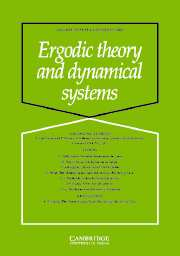 Ergodic Theory and Dynamical Systems Volume 25 - Issue 6 -