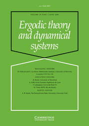 Ergodic Theory and Dynamical Systems Volume 29 - Issue 3 -