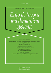 Ergodic Theory and Dynamical Systems Volume 29 - Issue 6 -