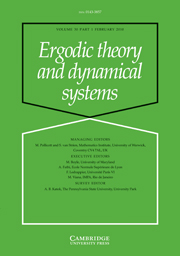 Ergodic Theory and Dynamical Systems Volume 30 - Issue 1 -