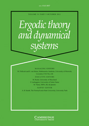 Ergodic Theory and Dynamical Systems Volume 31 - Issue 5 -