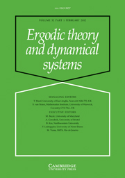 Ergodic Theory and Dynamical Systems Volume 32 - Issue 1 -