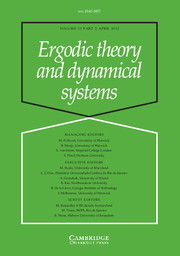 Ergodic Theory and Dynamical Systems Volume 33 - Issue 2 -