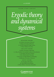 Ergodic Theory and Dynamical Systems Volume 33 - Issue 3 -