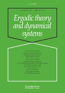 Ergodic Theory and Dynamical Systems Volume 34 - Issue 1 -