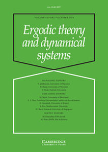Ergodic Theory and Dynamical Systems Volume 34 - Issue 5 -