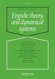 Ergodic Theory and Dynamical Systems Volume 35 - Issue 1 -