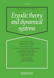 Ergodic Theory and Dynamical Systems Volume 36 - Issue 6 -