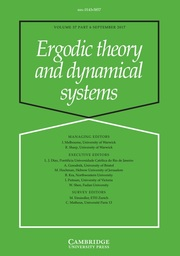 Ergodic Theory and Dynamical Systems Volume 37 - Issue 6 -
