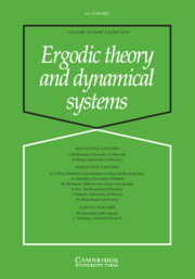 Ergodic Theory and Dynamical Systems Volume 38 - Issue 4 -