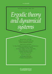 Ergodic Theory and Dynamical Systems Volume 39 - Issue 5 -
