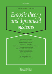 Ergodic Theory and Dynamical Systems Volume 40 - Issue 6 -