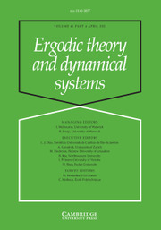 Ergodic Theory and Dynamical Systems Volume 41 - Issue 4 -