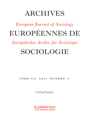 European Journal of Sociology / Archives Européennes de Sociologie Volume 52 - Issue 3 -