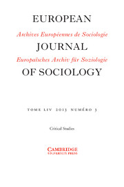 European Journal of Sociology / Archives Européennes de Sociologie Volume 54 - Issue 3 -
