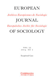 European Journal of Sociology / Archives Européennes de Sociologie Volume 55 - Issue 2 -