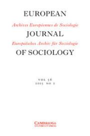 European Journal of Sociology / Archives Européennes de Sociologie Volume 56 - Issue 2 -