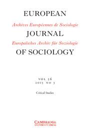 European Journal of Sociology / Archives Européennes de Sociologie Volume 56 - Issue 3 -
