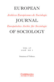 European Journal of Sociology / Archives Européennes de Sociologie Volume 57 - Issue 1 -