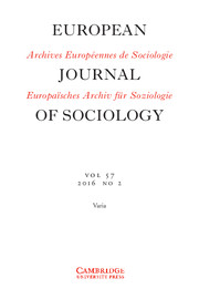 European Journal of Sociology / Archives Européennes de Sociologie Volume 57 - Issue 2 -