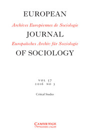 European Journal of Sociology / Archives Européennes de Sociologie Volume 57 - Issue 3 -