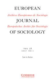 European Journal of Sociology / Archives Européennes de Sociologie Volume 58 - Issue 1 -