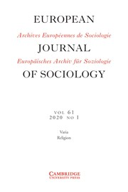 European Journal of Sociology / Archives Européennes de Sociologie Volume 61 - Issue 1 -