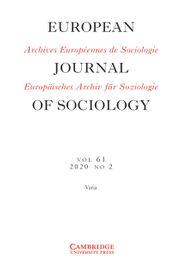 European Journal of Sociology / Archives Européennes de Sociologie Volume 61 - Issue 2 -