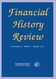 Financial History Review Volume 10 - Issue 1 -