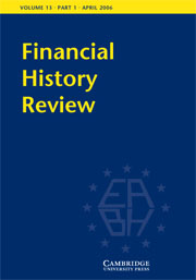 Financial History Review Volume 13 - Issue 1 -