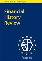 Financial History Review Volume 15 - Issue 2 -