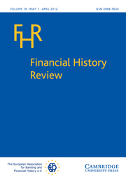 Financial History Review Volume 19 - Issue 1 -