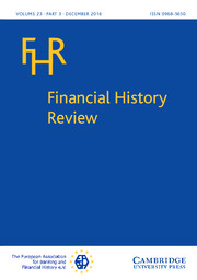 Financial History Review Volume 23 - Issue 3 -