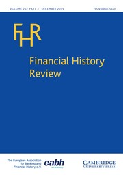 Financial History Review Volume 26 - Issue 3 -