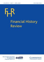 Financial History Review Volume 27 - Issue 1 -