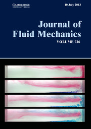 Journal of Fluid Mechanics Volume 726 - Issue  -