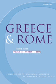 Greece & Rome Volume 64 - Issue 1 -