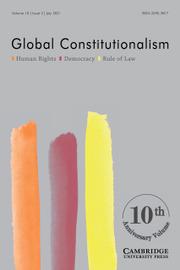 Global Constitutionalism Volume 10 - Issue 2 -