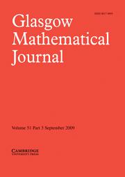 Glasgow Mathematical Journal Volume 51 - Issue 3 -