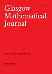Glasgow Mathematical Journal Volume 52 - Issue 3 -