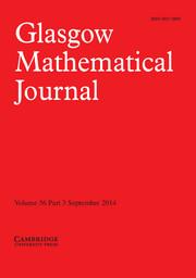 Glasgow Mathematical Journal Volume 56 - Issue 3 -