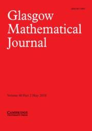 Glasgow Mathematical Journal Volume 60 - Issue 2 -
