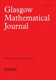 Glasgow Mathematical Journal Volume 60 - Issue 3 -