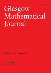 Glasgow Mathematical Journal Volume 61 - Issue 1 -