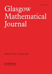 Glasgow Mathematical Journal Volume 63 - Issue 1 -