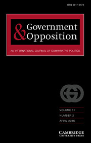 Government and Opposition Volume 51 - Issue 2 -