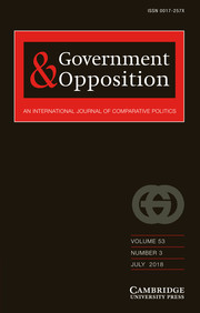 Government and Opposition Volume 53 - Issue 3 -