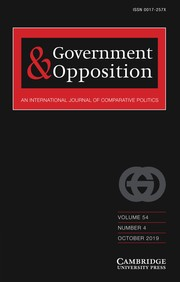 Government and Opposition Volume 54 - Issue 4 -
